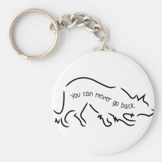 Border Collies - You Can Never Go Back Basic Round Button Keychain