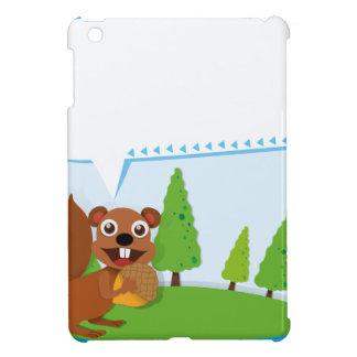 Border design squirrel and acorn cover for the iPad mini