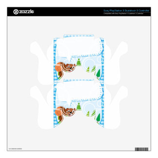 Border design squirrel and acorn PS3 controller decal