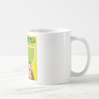 Border design with gorila and trees coffee mug