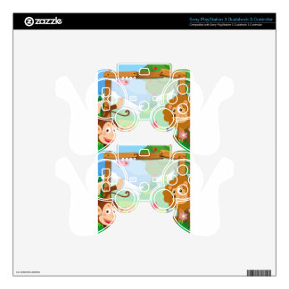 Border design with wild animals skin for PS3 controller