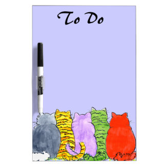 Border of Cats Dry Erase Board