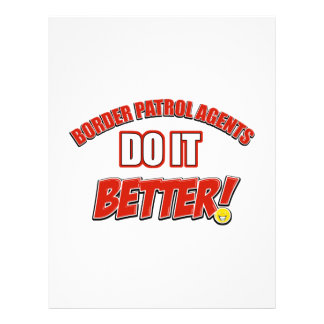 Border patrol agents job designs custom letterhead