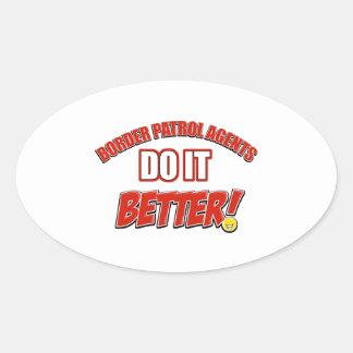 Border patrol agents job designs oval sticker