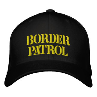 BORDER PATROL EMBROIDERED BASEBALL CAP