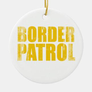 Border Patrol Faded png Christmas Tree Ornaments