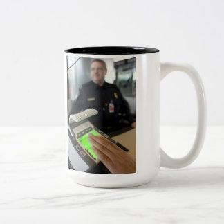Border Patrol Two-Tone Coffee Mug