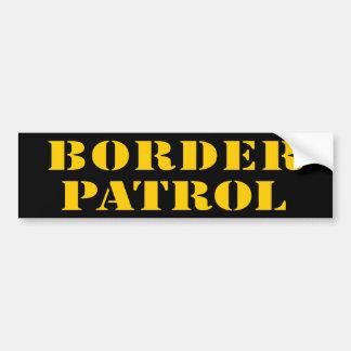 BORDER PATROL  (v180) Car Bumper Sticker