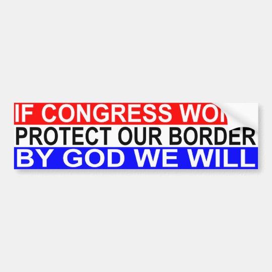 Border Protection Bumper Sticker
