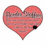 Border Staffy Paw Prints Dog Humor Cut Outs