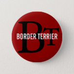 Border Terrier Breed Monogram Button