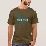 Border Terrier Breed Monogram/Dog Lovers Shirt