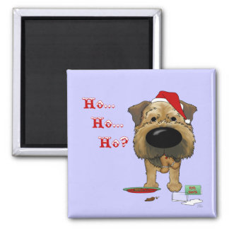Border Terrier Christmas Refrigerator Magnets