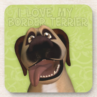 Border Terrier Coasters with cork back - set of 6