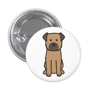 Border Terrier Dog Cartoon Buttons