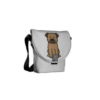 Border Terrier Dog Cartoon Courier Bag