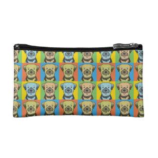 Border Terrier Dog Cartoon Pop-Art Makeup Bag