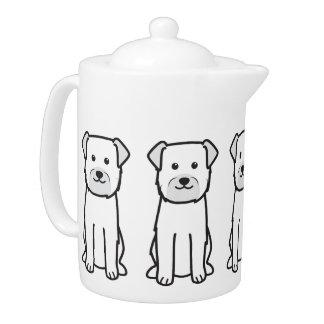 Border Terrier Dog Cartoon Teapot