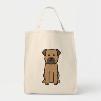 Border Terrier Dog Cartoon Tote Bag
