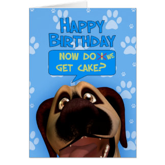 Border Terrier Dog Cartoon With A dash Of Humor Greeting Card