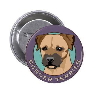 Border Terrier Head Study 2 Inch Round Button