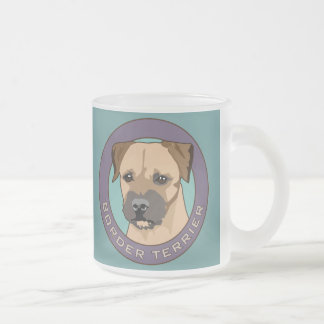 Border Terrier Head Study Frosted Glass Coffee Mug