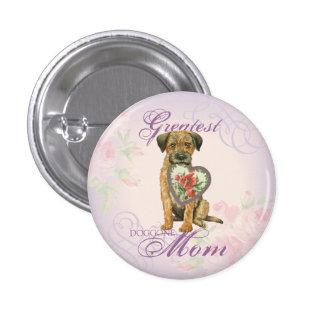 Border Terrier Heart Mom Pinback Button