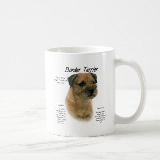 Border Terrier History Design Classic White Coffee Mug