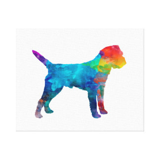 Border Terrier in watercolor Canvas Print