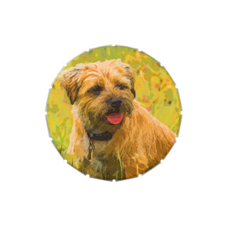 Border Terrier Jelly Belly™ Small Snip Snap Tin Candy Tin