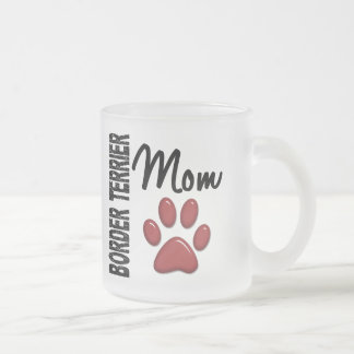 Border Terrier Mom 2 Frosted Glass Coffee Mug