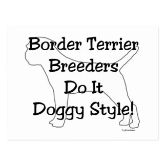 Border Terrier Postcard