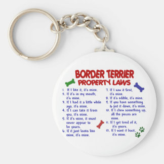 BORDER TERRIER Property Laws 2 Keychain