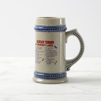 BORDER TERRIER Property Laws 2 Coffee Mugs