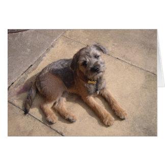 Border Terrier Puppy Card