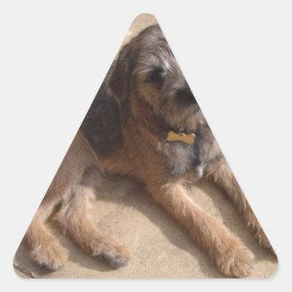 Border Terrier Puppy Triangle Sticker