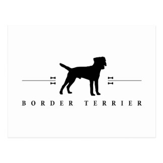 Border Terrier silhouette -1- Postcard