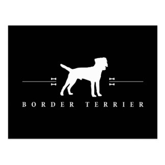 Border Terrier silhouette -2- Postcard