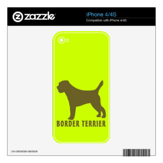Border Terrier Skins For The iPhone 4