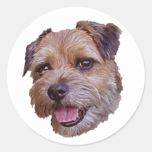 Border Terrier Round Stickers