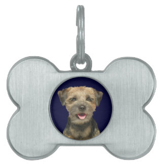 Border Terrier Sunshine and Butterflies Pet Name Tag