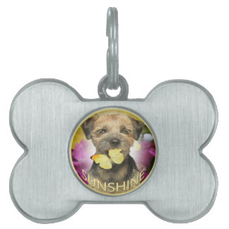 Border Terrier Sunshine Apparel, cards, gifts Pet Name Tag