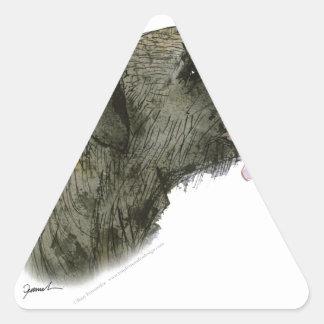 Border Terrier, tony fernandes Triangle Sticker