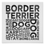Border Terrier Typography Posters