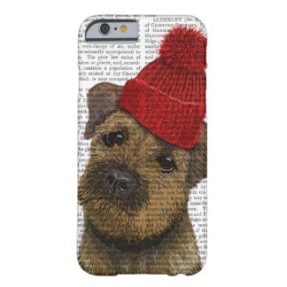 Border Terrier with Red Bobble Hat 3 Barely There iPhone 6 Case