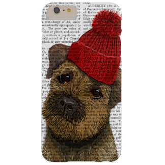 Border Terrier with Red Bobble Hat 3 Barely There iPhone 6 Plus Case