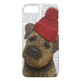 Border Terrier with Red Bobble Hat 3 iPhone 8/7 Case