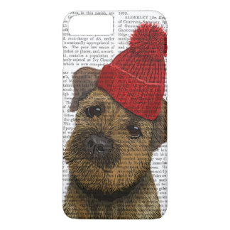 Border Terrier with Red Bobble Hat 3 iPhone 8 Plus/7 Plus Case