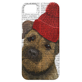 Border Terrier with Red Bobble Hat 3 iPhone SE/5/5s Case