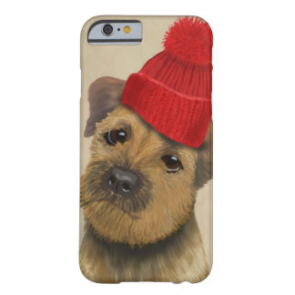 Border Terrier with Red Bobble Hat Barely There iPhone 6 Case